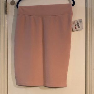 NWT LulaRoe Cassie Pencil Skirt-Blush Color